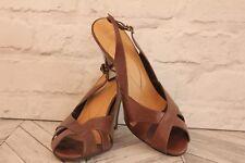 CARVELA By Kurt Geiger Brown Open Toe Court Pumps High Heel Shoes RRP £95 EU 41