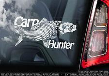 Carpa Hunter-Finestra Auto Adesivo-Koi Da Pesca-NON. Salmone/Pike/Basso/FLY/pesce