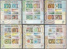 1990 ITALIA FOGLIETTI ITALIA 90 COPPA DEL MONDO DI CALCIO MNH ** - ED