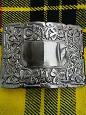 Scottish Kilt Belt Buckle Thistle Crest Silver Antique Finish/Kilt Belt Buckle