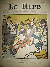 LE RIRE N° 341 CARICATURE HUMOUR DESSINS CARAN D'ACHE LEANDRE SANCHA 1901