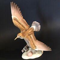 HOMCO BIRD FIGURINE MASTERPIECE PORCELAIN VINTAGE 1986 SIGNED BISQUE 10 INCH