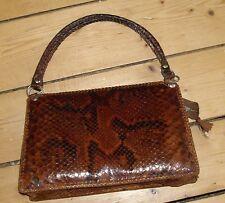 Genuine Vintage Real Snakeskin Handbag