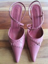 GORGEOUS KURT GEIGER BILBERRY PINK LEATHER COURT SHOES SIZE 36 90mm HEEL