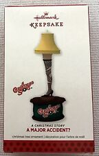 A MAJOR ACCIDENT Hallmark tree ornament LEG LAMP QX12052 A CHRISTMAS STORY