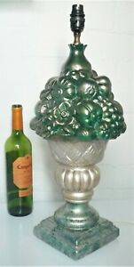 Victorian Style Table Lamp Unusual Large Fruit Lamp Country Style Large Lamp