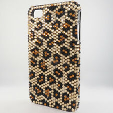 For Apple iPhone 4 4S Crystal Diamond BLING Hard Case Phone Cover Leopard