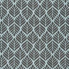 AU MAISON Wachstuch Trigo Charcoal Turquoise beschichtete Baumwolle 0,5 Meter