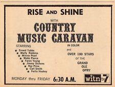 1967 WITN TV AD~COUNTRY MUSIC CARAVAN~GRAND OLE OPRY~FERLIN HUSKEY~WEBB PIERCE