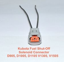 Kubota Fuel Shut Off  Solenoid Connector Plug D905 D1005 V1305 V1505 17208-60016