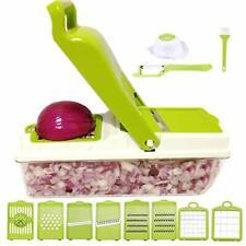 Vegetable Chopper Food Onion Cutter Veggie Slicer Dicer Fruit Hand Kitchen Green