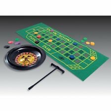 Casino Roulette Set - Roulette Wheel Chips and Felt Party Game - Decoration