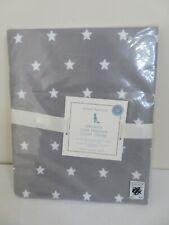 POTTERY BARN KIDS ORGANIC STAR TODDLER DUVET COVER GRAY & WHITE NEW