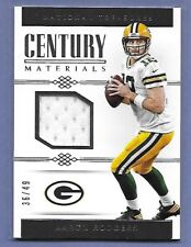 AARON RODGERS - GREEN BAY PACKERS - GAME WORN JERSEY - SERIAL #'d 36/49 - NICE!