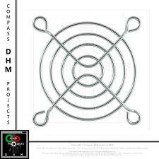 Copri ventola 70*70 mm fan cover 7 cm 3D printer griglia cromata 70x70