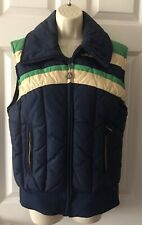 Vintage 70s Alpine Designs Quilted Down Jacket / Vest Size M Made in USA