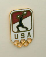 2  Vintage USA Olympic Rings Wieghtlifting Team Pin NOS New 1996