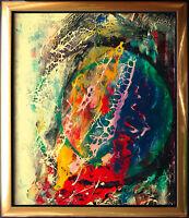 Jozsef Toth *1944 Kosmos Planet Gasnebel Öllackgemälde 1996 Astronomie Universum