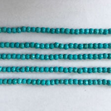 3MM Natural Arizona Turquoise Faceted Sleeping Beauty Rond Beads Semi 1STR