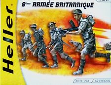 Heller 1:72 British 8th Army Figures Model Kit