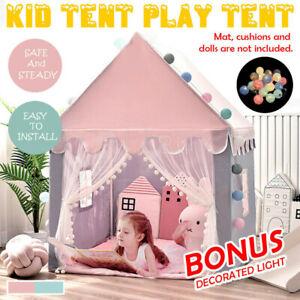 Kids Playhouse Play tent Pop Up Castle Princess Indoor Outdoor Girls Birthday