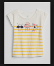 BABY GAP GIRL Embroidery Graphic T-Shirt COOL CAT NWT 3T N5 NNN