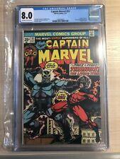 CAPTAIN MARVEL #33 vs THANOS Battle & ORIGIN Saga 1974 Avengers STARLIN CGC 8.0