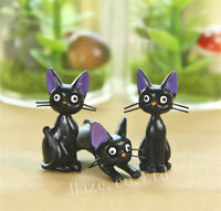 3pcs/Set Kiki's Delivery Service JijiBlack Cat Kiki Resin Figure lovely
