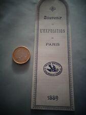 MARQUE PAGE TRES ANCIEN EXPOSITION DE PARIS 1889   (ref 42 )