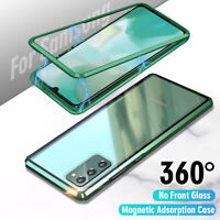 360° Magnetic Tempered Glass Case For Samsung Galaxy S20 S10 S9 S8 Note 20 9 10