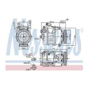 Fits BMW 6 Series E64 650i Genuine OE Quality Nissens A/C Air Con Compressor