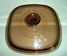 Corning Visions Pyrex Amber A-9-C Replacement Square Lid  For 2-3 qt. Casserole