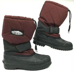 Katahdin L.L. Bean Men's 8 M Red Black Lined Steel Shank Toe Heavy Snow Boots
