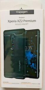 Sony Xperia XZ2 Premium Case I Spigen [Rugged Armor] Black TPU Slim Sleek Cover