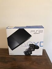 Sony SCPH-90001CB PlayStation 2 Slim Charcoal Black Console (NTSC) Package.