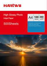 Hartwii 500Sheets A4 260Gsm High Glossy Photo Paper Inkjet Paper Ink Printing UK