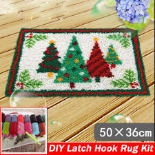 DIY Latch Hook Kits Christmas Tree Rug-Making Sewing Crocheting Kit Needle Craft