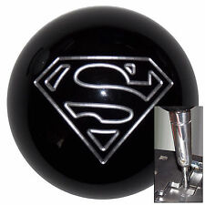 Black Superman shift knob for Dodge Chrys auto stk w/ adapter