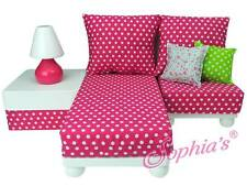 "Chaise Lounge Sofa Sectional Set couch Furniture for 18"" American Girl Dolls"
