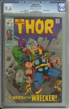 THOR #171 CGC 9.6 OW/WH PAGES // WRECKER APPEARANCE 1969