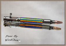 Handmade Writing Pen Spectraply Wood Bolt Action Hunting Beautiful Artwork 706