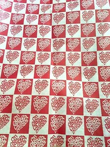 My Lacey Heart Gift Wrap Tissue Paper-10 Large Printed Patterned Sheets