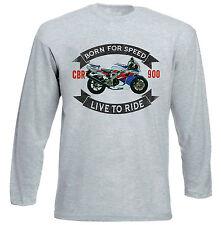 HONDA CBR 900 1992-Grigio T-shirt A Maniche Lunghe-Tutte le taglie in magazzino