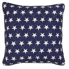 Kissenbezug USA 40x40 Blau Weiß Sterne Kissen Hülle Landhaus Stars