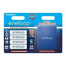 Panasonic Eneloop pack de 4 pilas recargables AA con estuche 2654-n