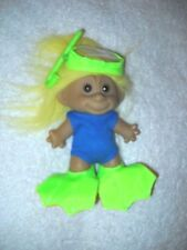 RARE Vintage MONKEY FACE Scuba Diver TROLL Doll~Wet Suit+Mask+Snorkel +Flippers