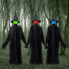 Halloween Decorations Holding Hands Witch, Sound-Activated Sensor Light-UP with