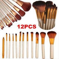 New 12pcs Makeup Brushes Set Powder Foundation Eyeshadow Eyeliner Lip Brush Tool