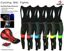 Deko Mens Cycling Bib Tights Padded Thermal Long Legging MTB Winter Bike Trouser
