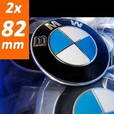 2x Für Bmw 82mm Emblem Logo Vorne Motorhaube 1er 3er 5er 7er e46 e46 e90 e61